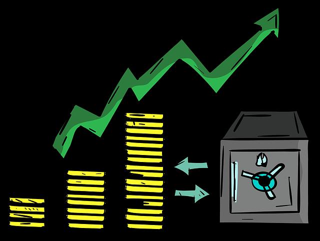 graf růstu peněz
