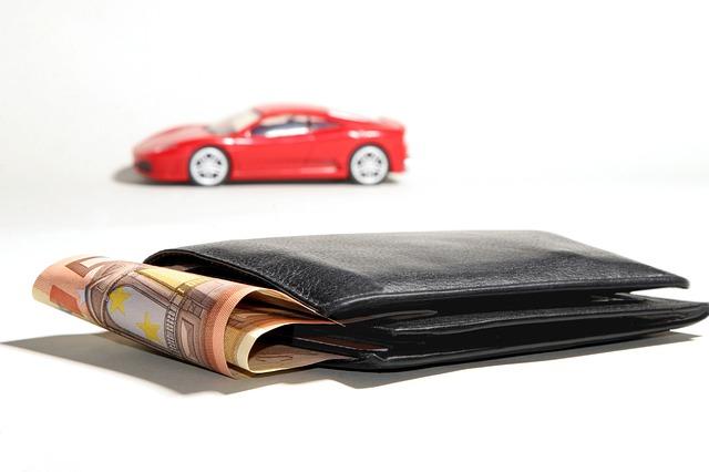peníze, peněženka, auto